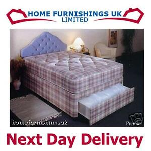 Single Deep Quilt 3ft Divan Bed RRP£249 BARGAIN FREEP&P