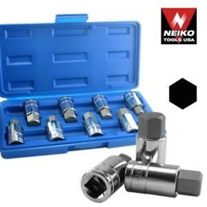 "Brand New 8pc 1/2"" DR. Jumbo Hex Bit Socket Set, SAE & Metric"