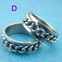 Silver Stainless Steel Curb Chain Ring Size 8-NEW!