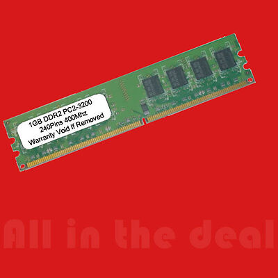 1gb Ddr2 Ram 400mhz 240-pin Pc2-3200 Dell Hp Ibm Ram Desktop Low Density Memory