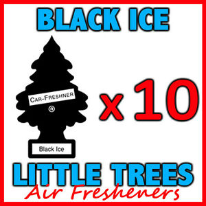 10 x BLACK ICE LITTLE TREES AIR FRESHENERS Car Truck Fragrance Freshener Scent