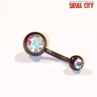 Negro Jewelled Navelstud Rainbow - Piercing De Ombligo - Joya Conector - rainbow - ebay.es