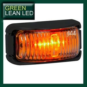 12V-24V-LED-MARKER-SIDE-LIGHT-LAMP-SUBMERSIBLE-TRUCK-TRAILER-AMBER-INDICATOR