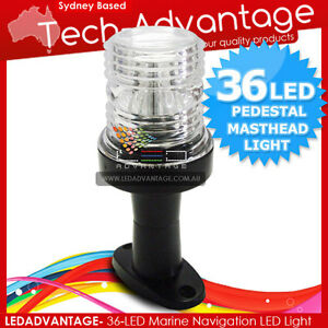 12V-3W-LED-5-BOAT-ANCHOR-STERN-MASTHEAD-NAVIGATION-PEDESTAL-WHITE-LED-LIGHT