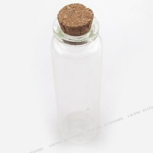 10-Clear-Glass-Wish-Bottle-With-Cork-Fit-Packing-120258