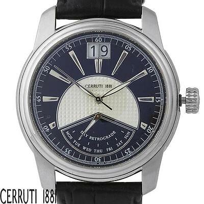 CERRUTI PRESTIGE RETRO MASTER II MENS SWISS MADE LUXURY WATCH NEW CT100311S04