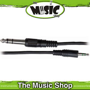Australasian 6.5ft 3.5mm - 6.3mm Stereo Jack Lead - New Cable
