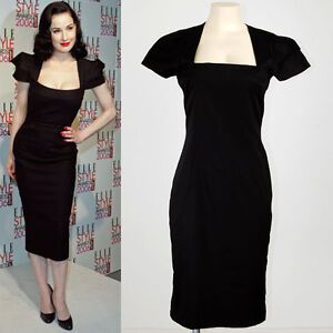 Retro Dita Mad Men Rockabilly Wiggle Pencil Bombshell Evening Dress L