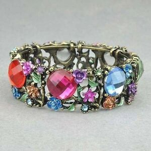 Swarovski Crystal Cute Flora CZ Bracelet Bangle--BRAND NEW!!