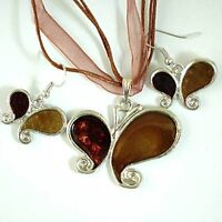 fashion butterfly Necklace/ Earring Set--NEW!!