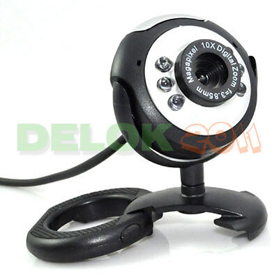 USB 50.0M 6 LED Webcam Camera Web Cam With Mic for Desktop PC Laptop on Rummage