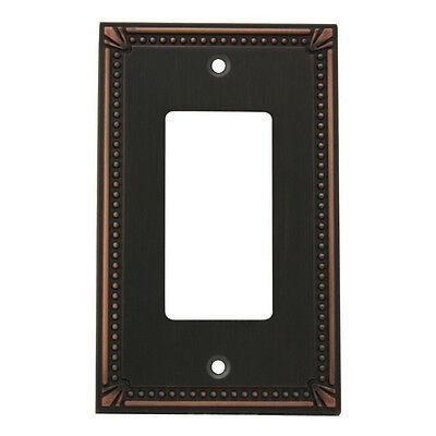 Oil Rubbed Bronze Single Decora / GFCI Rocker Switch Wall Plate Cover 44000-ORB
