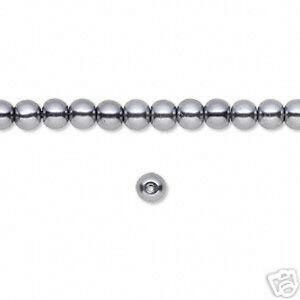 New-Wholesale-Lot-Glass-Black-Pearls-6mm-Jewelry-70