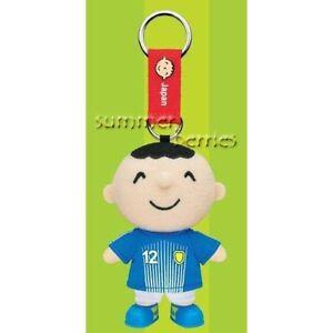 Sanrio minna no tabo 2010 World Cup Plush Key Chain - #12 Japan
