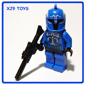 LEGO STAR CLONE WARS Senate Commando Captain Minifig with Blaster Rifle Gun NEW