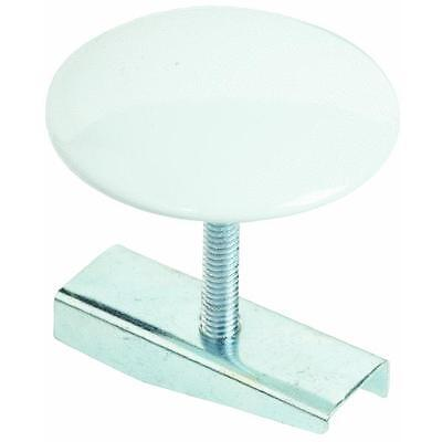 """White 1-3/4"""" Faucet Sink Hole Cover With Screw And Wing Nut"""