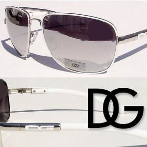 DG SUNGLASSES AVIATOR MIRROR MIRRORED LENS BLACK SHADES NEW IG8893 DG7222 multi