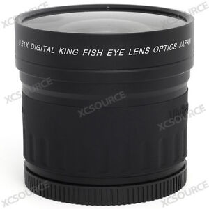 58mm 0.21x Fisheye Lens for Canon EOS 350D 400D 500D Rebel Xti DV Video New LF86