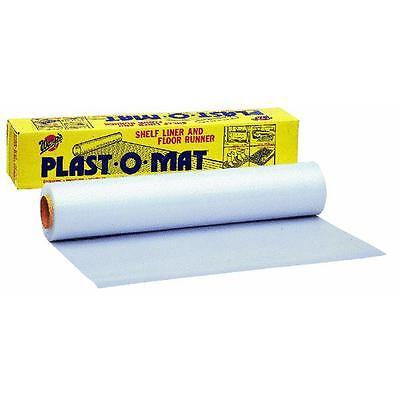 30 X 50' White Plast-o-mat Ribbed Floor Runner Carpet Protector Bulk Roll Pm50w