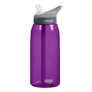 CAMELBAK EDDY 1L BPA FREE HYDRATION FITNESS HIKING WATER BOTTLE NEW PLUM PURPLE