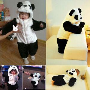 baby toddler cartoon panda cosplay costume sleeping bag fancy dress romper 4 ebay. Black Bedroom Furniture Sets. Home Design Ideas