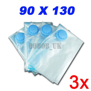 3-PACKS-90X130CM-LARGE-SPACE-VACUUM-STORAGE-SEAL-BAG-UK
