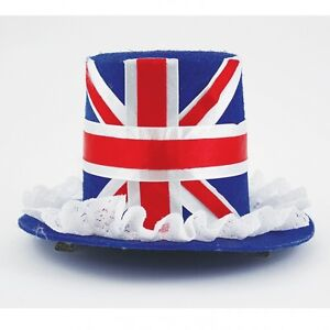 Great Britain Union Jack Fancy Dress Mini Top Hat Union Jack Hat
