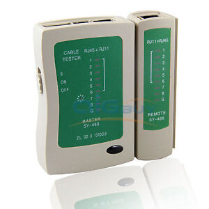 ETHERNET NETWORK LAN CAT5 CAT5E RJ45 RJ11 CABLE TESTER