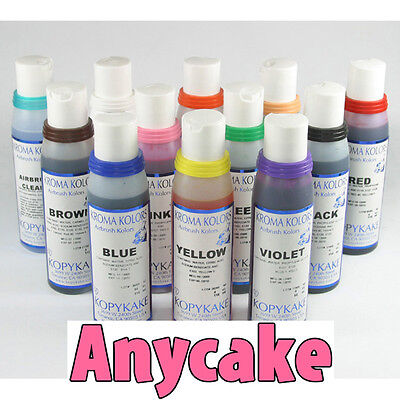 Airbrush Food Colours - Kroma Kolors by Kopykake - 11x 118ml (4oz) food colours