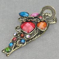 Heart Vintage Swarovski Crystal CZ Hair Clip---BRAND NEW!!