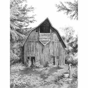 SKETCHING-Made-Easy-Kit-8-x-11-OLD-COUNTRY-BARN