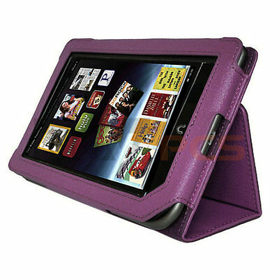 Purple Pu Leather Cover Case Stand For Barnes & Noble Nook Tablet Nook Color
