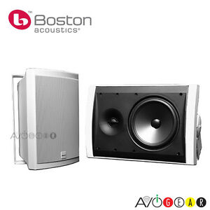 Save-Boston-Acoustics-Voyager-70-White-Outdoor-Speakers-White-Brand-New
