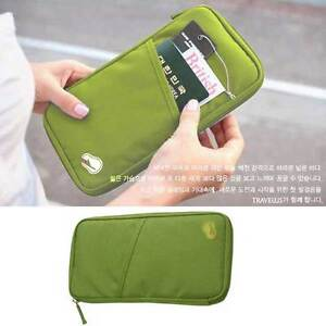 GREEN-TRAVEL-BAG-POUCH-PASSPORT-ID-CARD-HOLDER-CASE-HANDY