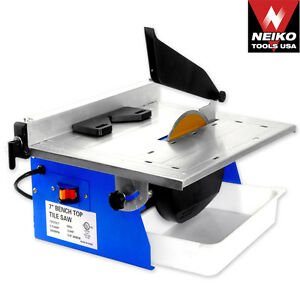 Neiko Pro 7 Tile Saw Marble Cutting Machine Power Tools Table Top Saws Blades