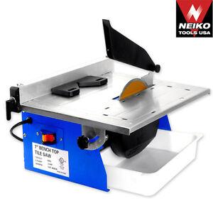 Neiko Pro 7 Tile Saw Marble Cutting Machine Power Tools Table Top Saws Blades