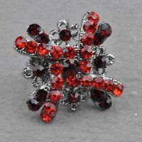 Red Diamante Adjustable Cocktail Ring---BRAND NEW!!
