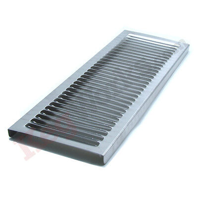 23 7/8 Replacement Splash Grid - Stainless Steel - Draft Beer Spill Tray Parts