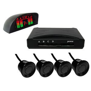 Car-Wireless-Reverse-4-Parking-Sensors-Radar-Alarm-Backup-Beep-LED-Indicator-NEW