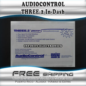 NEW AUDIO CONTROL THREE.2 IN-DASH 4-CHANNEL EQUALIZER CAR EQ CROSSOVER THREE2