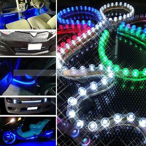 New-PVC-24CM-3825-3-LED-Strip-Car-Auto-Waterproof-Light-Lamp-Bulb-12V-600-800mA