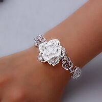 # 205-412 - Bracelet en forme de fleur et feuilles en argent 925