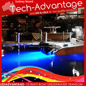 12V-10-WATT-SUBMERSIBLE-BAIT-FISHING-BLUE-UNDERWATER-LED-TRANSOM-BOAT-LED-LIGHT