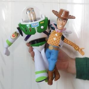 Toy Story 3 WOODY & BUZZ Lightyear Doll Soft Toy New 8