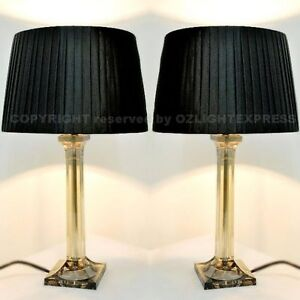 ★ PAIR ★ of NEW Bedside Table DESIGNER MODERN LAMPS