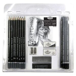 21-Piece-Sketch-and-Drawing-Pencil-Set-Sketching-Art-Royal-Langnickel