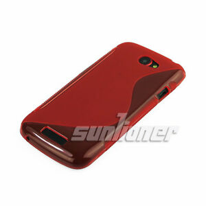 TPU-Silicone-Case-Skin-Cover-of-Red-color-for-HTC-One-S-T-Mobile