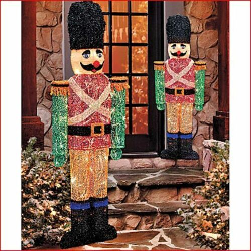 nutcracker toy soldier statues christmas outdoor yard display 42