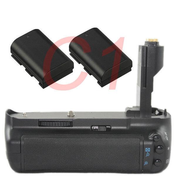 Professional Battery Grip for Canon EOS 7D + 2× LP-E6 battery as BG-E7 Camera
