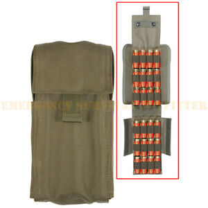 MOLLE-TACTICAL-Shotgun-Fold-Out-25-Round-Vest-or-Belt-Pouch-Olive-Drab